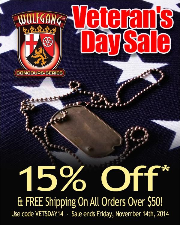 WolfgangCarCare Veteran's Day Sale! - AudiForums.com