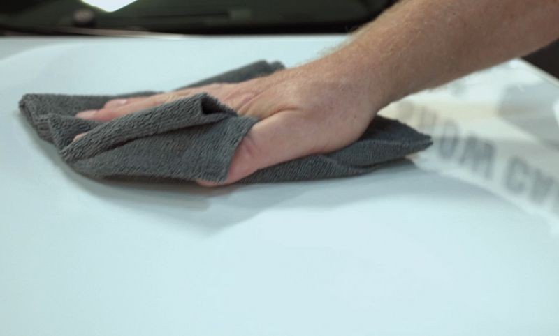 Be sure to use plenty of microfiber towels to avoid cross contamination.