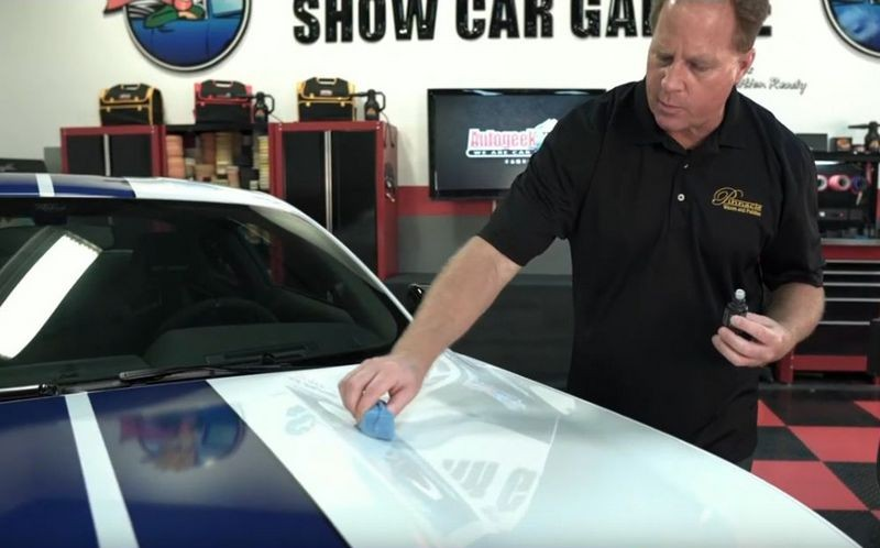 Apply coating to surface using a cross-hatch pattern.