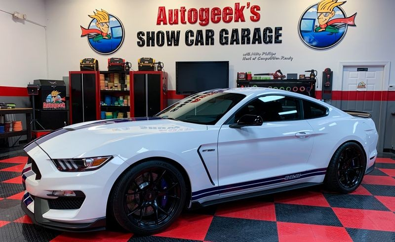 Mustang after coating with Pinnacle Black Label Pro Coating.
