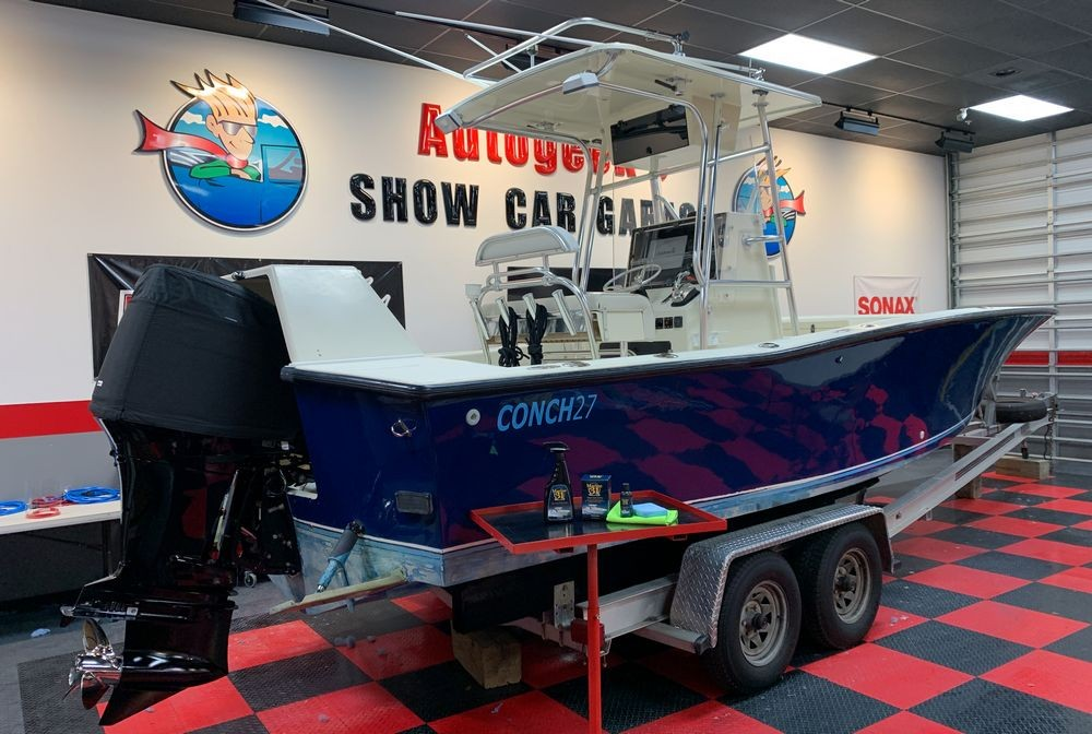 Boat after being detailed and coated with Marine 31 products.