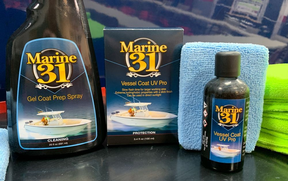 Products used to coat boat.