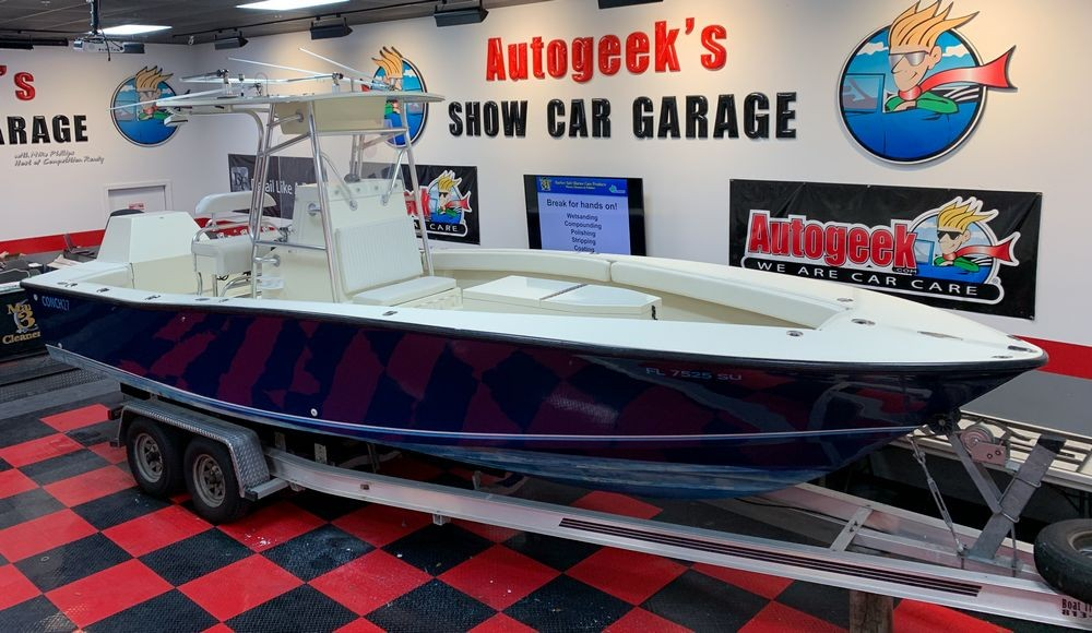 Boat after being detailed and coated using Marine 31 products.
