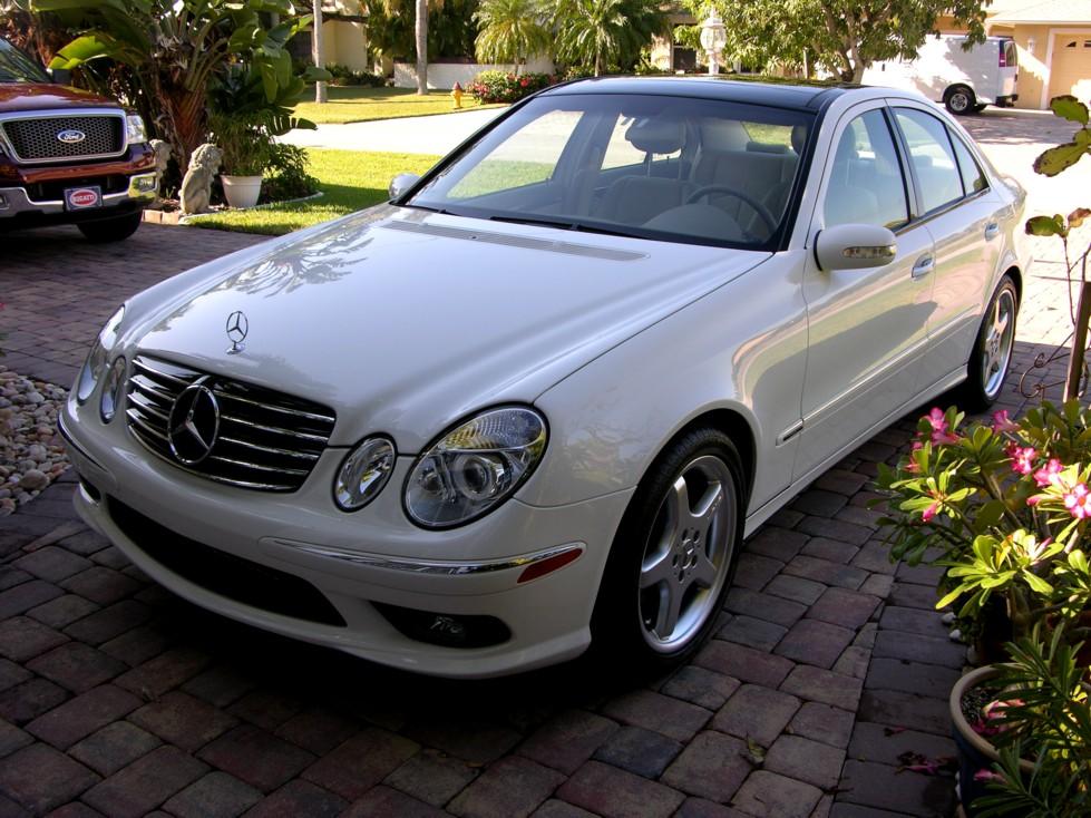 2005 mercedes benz e500 detail for Mercedes benz white paint