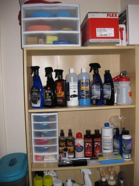 Storage Of Detailing Supplies