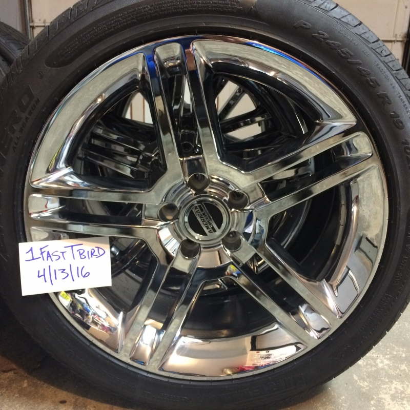 SHELBY GT500 style Chrome Wheel & Pirelli Tire Kit 19