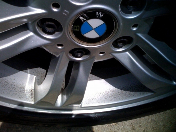 Rims With Chrome Steel Wool Cleaning