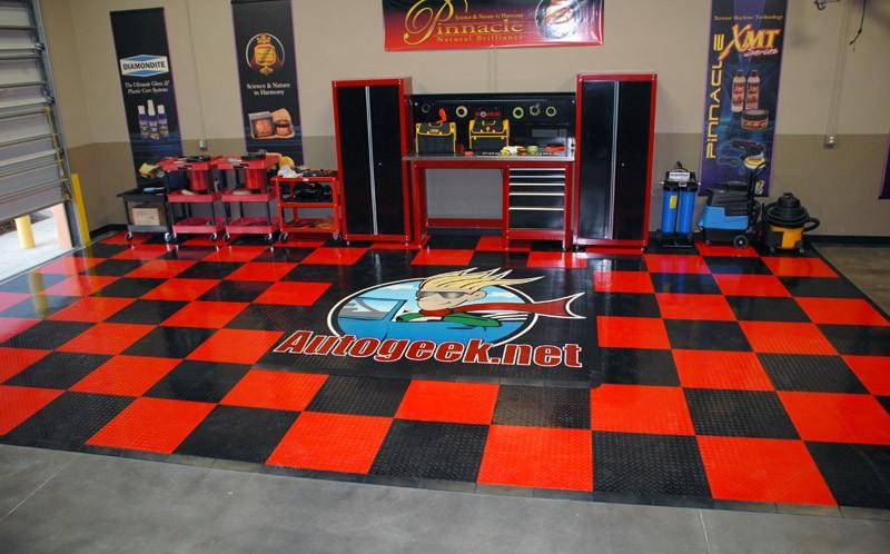 New Floor Going In Autogeeks Show Car Garage Studio History Page - Race track garage flooring