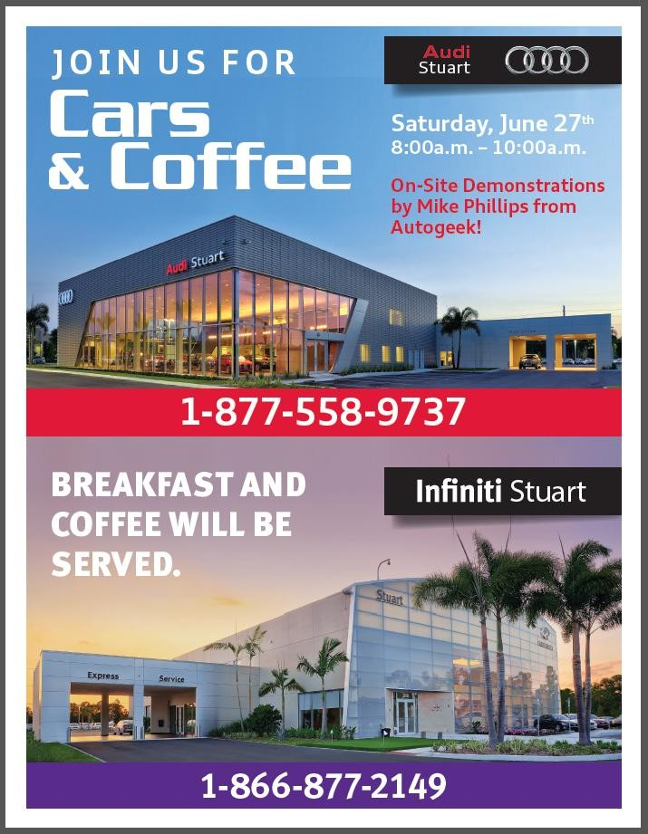 Cars & Coffee this Saay at Audi & Infiniti Stuart, Florida