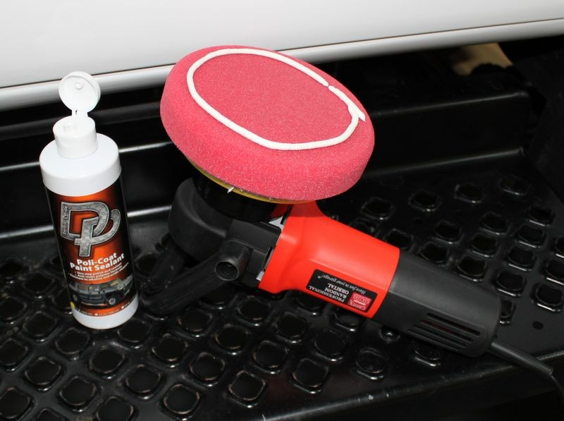 Hydro-tech Crimson Finishing Pad and DP Poli-Coat