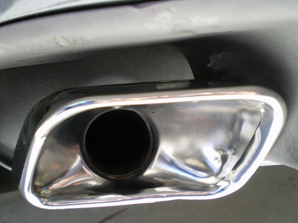 Polished My Acura TL Exhaust Tips - Acura tl exhaust