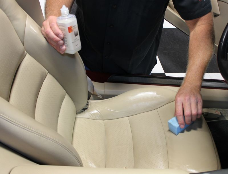 how to clean dirty cream leather car seats