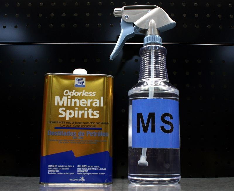 how to clean with mineral spirits