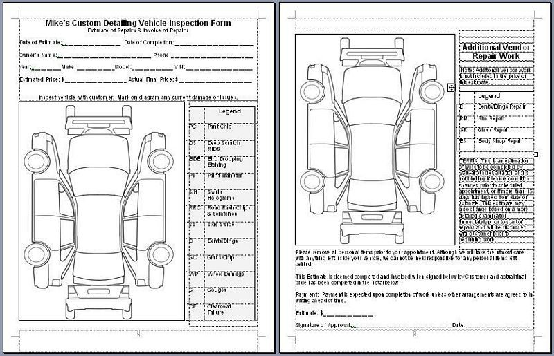 Mike Phillips Vehicle Inspection Form