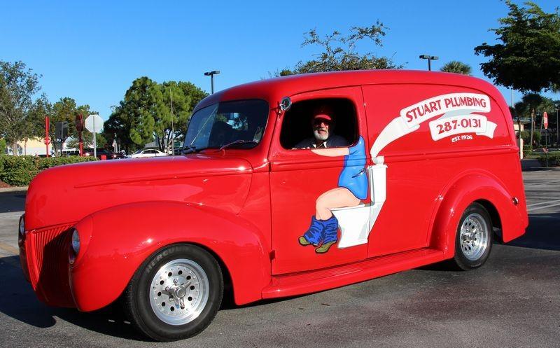 hotrod plumbing truck