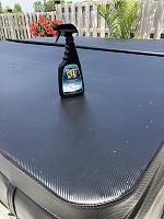 Marine 31 Vinyl Protectant on Hot Tub cover  Great Stuff