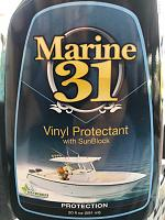 Marine 31 Vinyl Protectant on Hot Tub cover. Great Stuff-img_0005-jpg