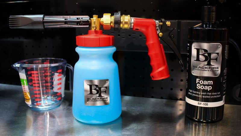 Once mixture is ready, attach nozzle and you're ready to go!