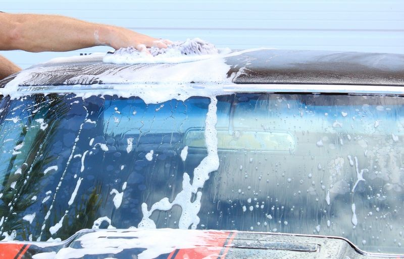 If you work quickly you can do both sides before it dries.