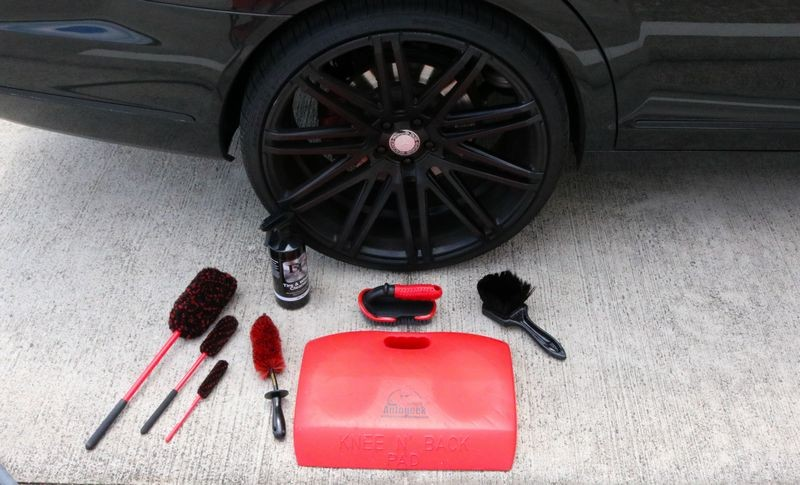 Speed Master Wheel Brushes and other detailing tools.