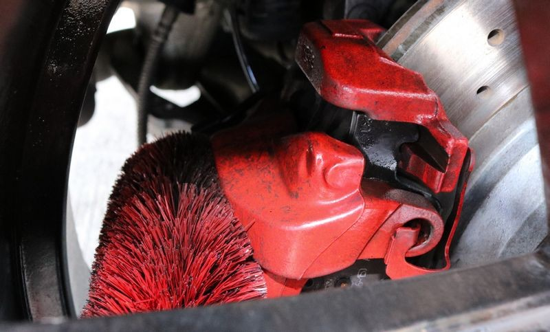 Use a Speed Master Wheel Brush to agitate grime.