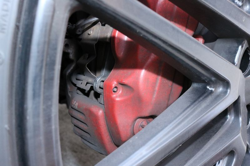 Dirty wheel before detailing.