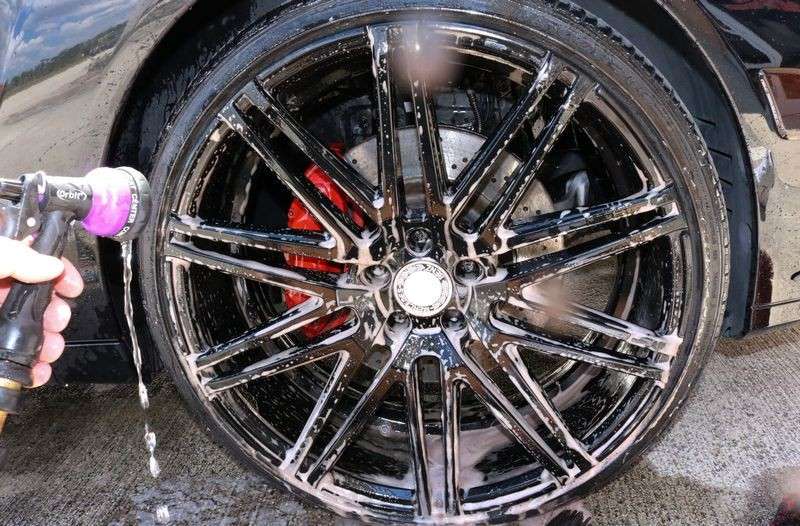 Give wheels a final water rinse.