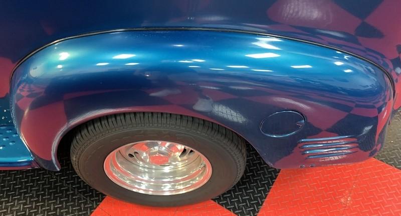 Close up of Dodge Panel Delivery Streetrod wheel fender