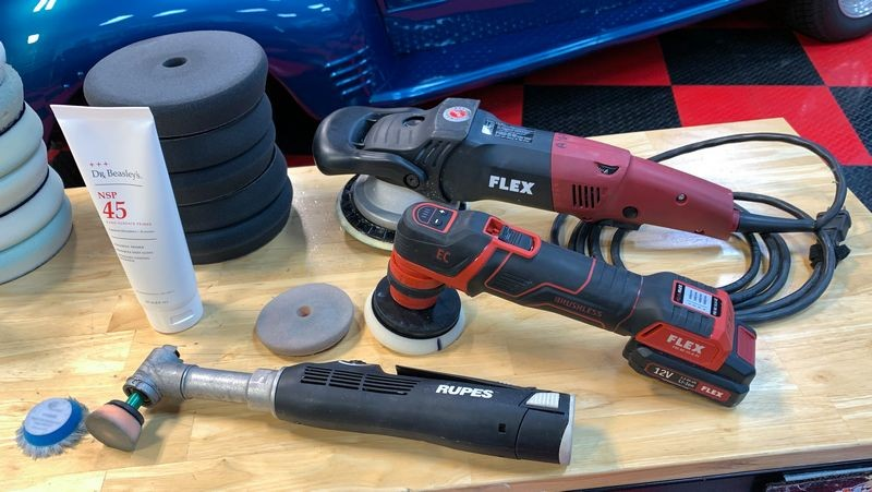 Group of tools used during detail.