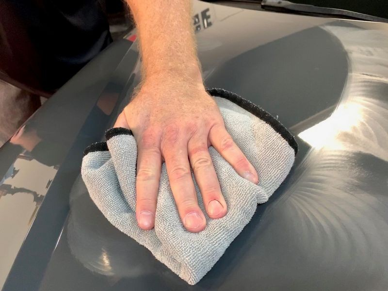 Buff away remaining residue with a microfiber towel.