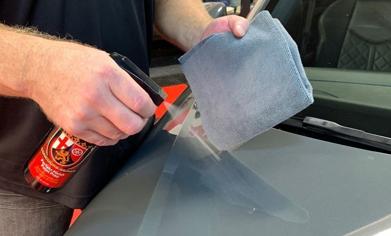 Use Wolfgang Perfekt Finish Paint Prep to remove polishing oils and prep the surface for coating.