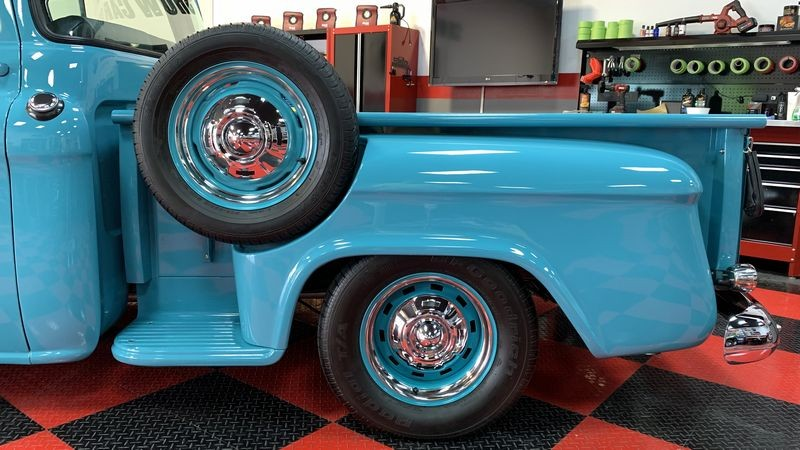 Chevy pickup truck after Jeweling Wax.