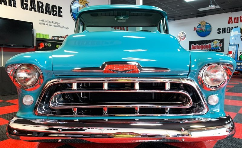Chevy pickup truck after Jeweling Wax