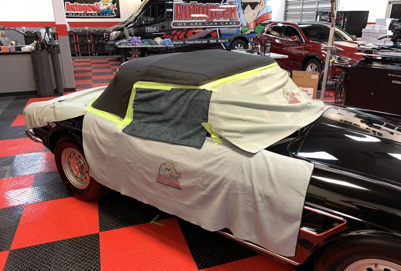 Another shot of covered car.