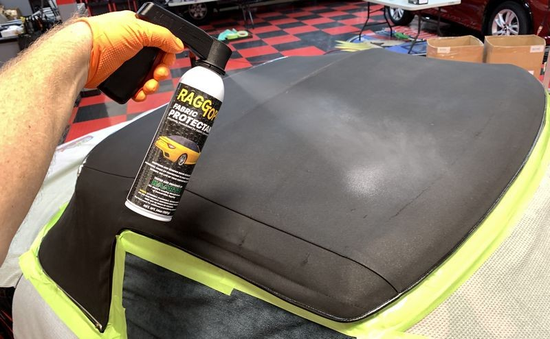 Restoring an ancient convertible top with RaggTopp!
