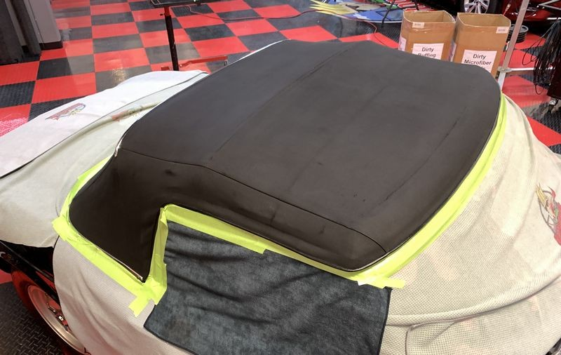 Convertible top after treatment.