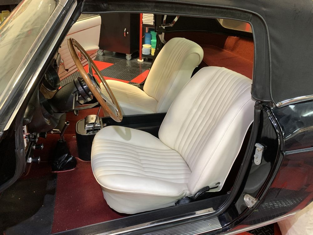 Leather seats after cleaning.
