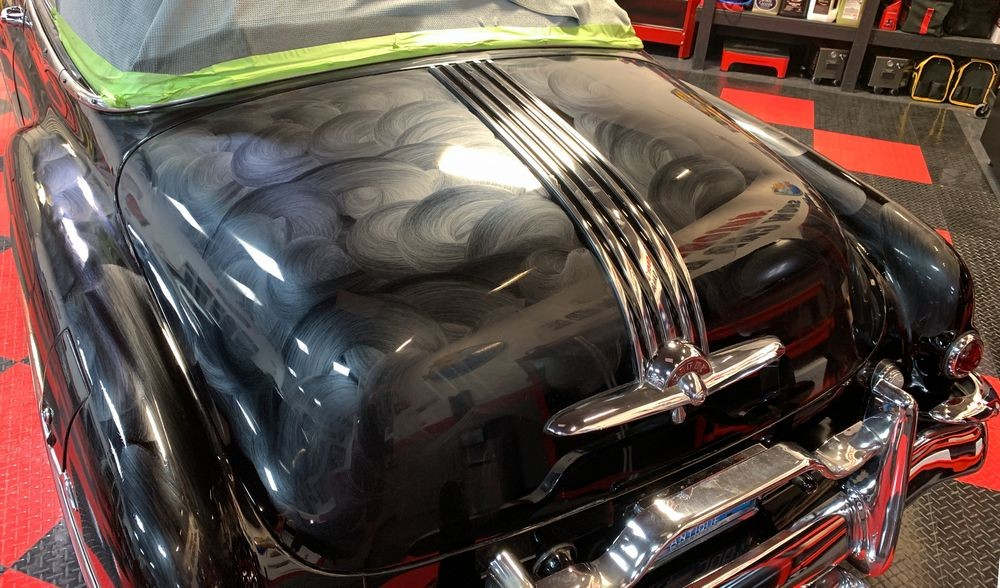 Another shot of hood with Collinite Wax applied.