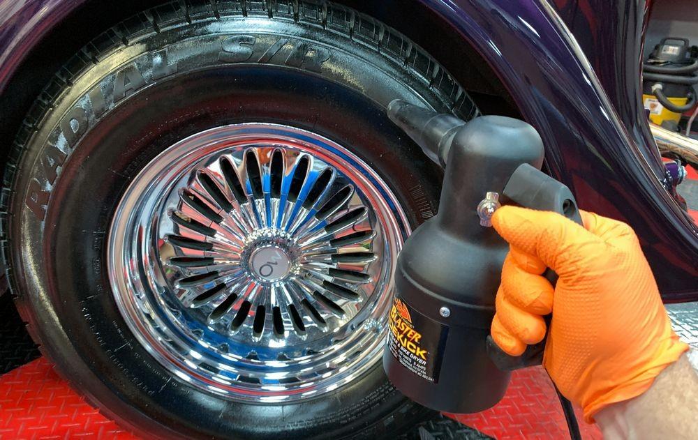 Speed drying with Metro Blaster Sidekick.