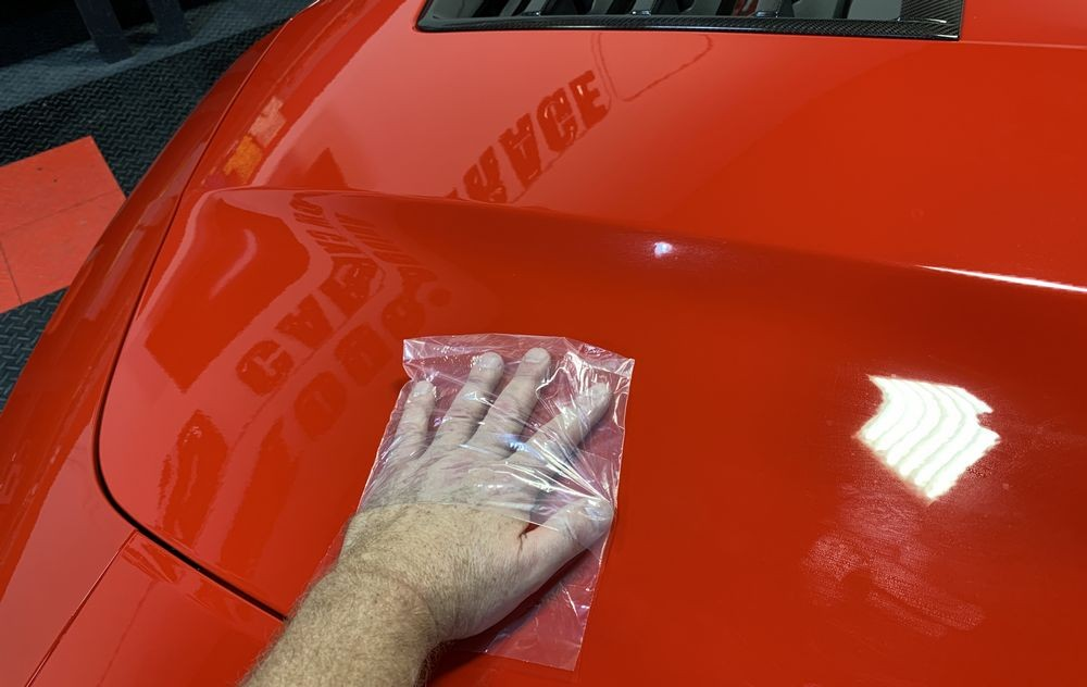 Baggies test on red Camaro.
