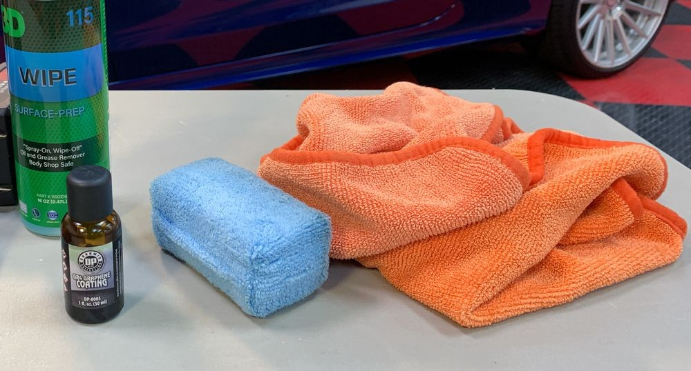 Products used to detail Mercedes.
