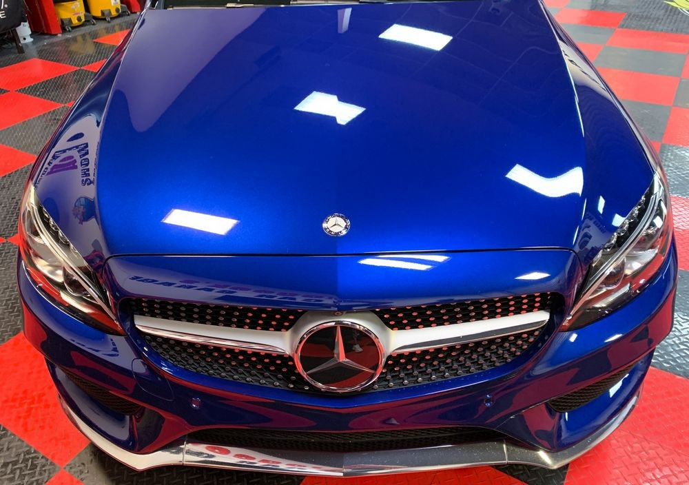2017 Mercedes-Benz C300 4Matic AMG after coating with DP GR4 Graphene Coating.