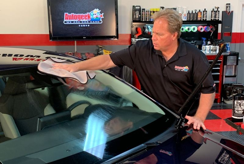 Wipe away BLACKFIRE Paint Prep using a clean microfiber towel.