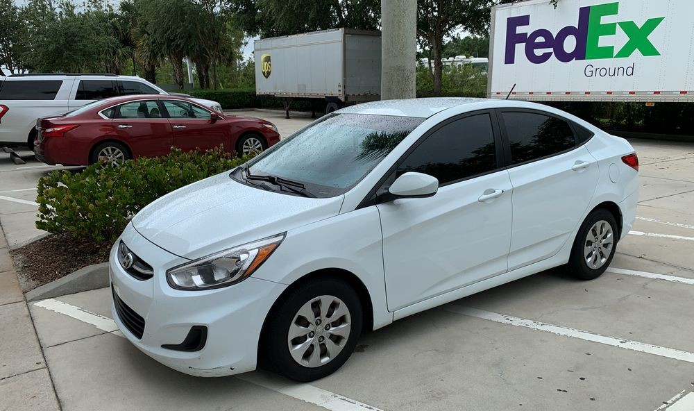 Hyundai accent before washing with DP Ceramic Rinseless Wash