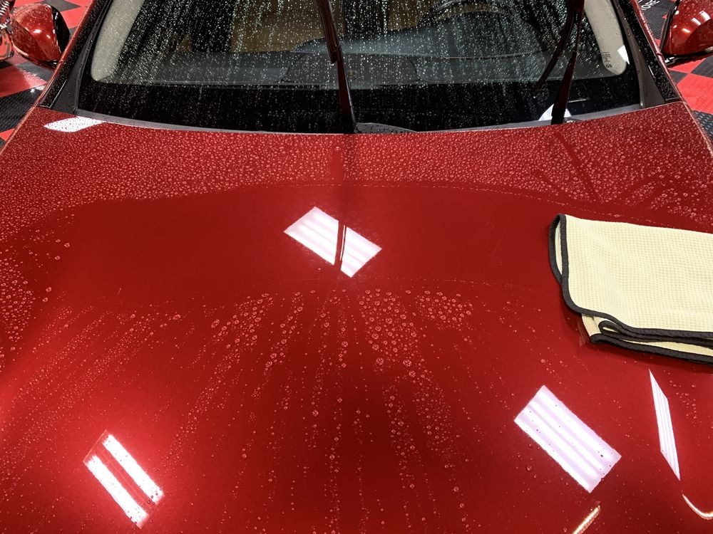 DP Ceramic Wash makes surface easier to dry.