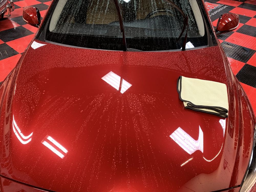 DP Ceramic Wash makes it easier to dry the surface.