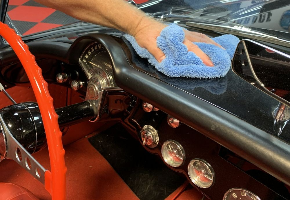 This car's painted dashboard can also be detailed with DP Ceramic Detail Spray