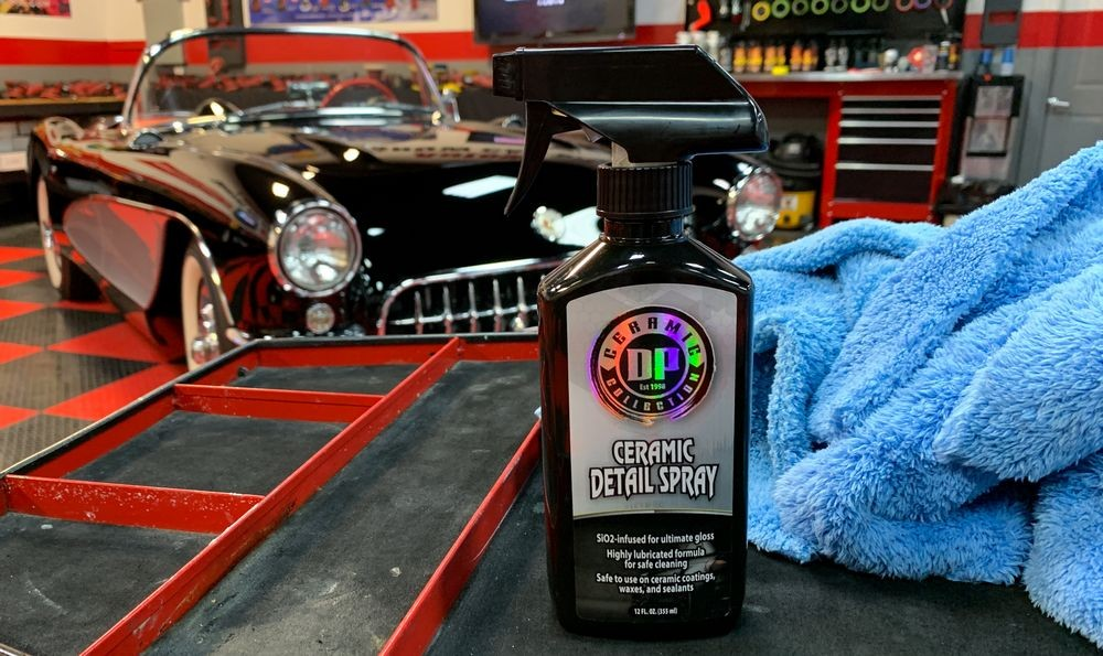 Close up shot of bottle of DP Ceramic Detail Spray.
