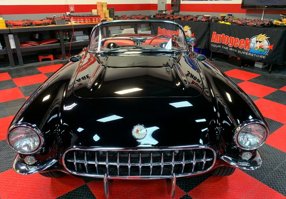 Black car after detailing with DP Ceramic Detail Spray.
