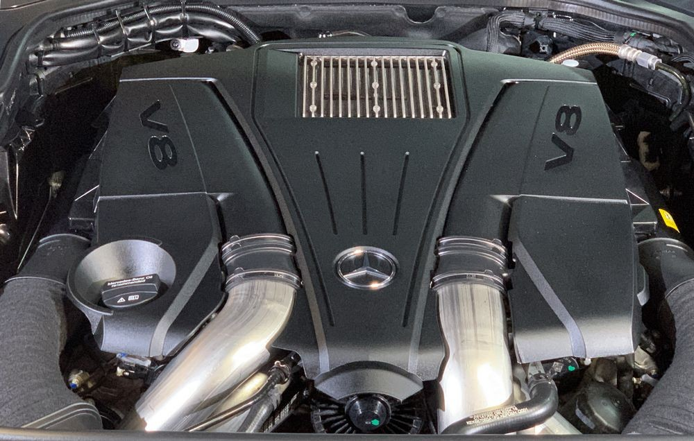 Engine compartment after detailing with 303 Aerospace Protectant.